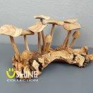 Big Wooden Mushroom Sculpture,Vintage,Home Decor,Hand Carved Statue Gift Art