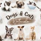 Dogs and Cats Watercolor Bundle