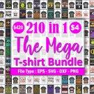 Mega T-shirt Design Bundle is here! Get this stunning bundle with over 210 unique design for just $4