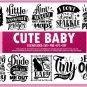 HUGE bundle Cute Baby Bundle Desing T-shirt in SVG EPS PNG and DXF files