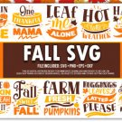 HUGE bundle Fall Bundle Desing T-shirt in SVG EPS PNG and DXF files