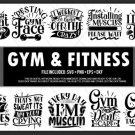 HUGE bundle Gym & Fitness Bundle Desing T-shirt in SVG EPS PNG and DXF files