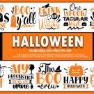 HUGE bundle Halloween  Bundle Desing T-shirt in SVG EPS PNG and DXF files