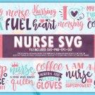 HUGE bundle Nurse Life Bundle Desing T-shirt in SVG EPS PNG and DXF files