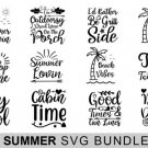 HUGE bundle 14 Summer Bundle Graphic Desing T-shirt in SVG EPS PNG and DXF files