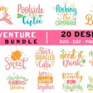 HUGE bundle Adventure Quotes Bundle Graphic Desing T-shirt in SVG EPS PNG and DXF files