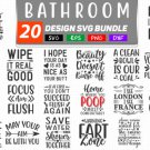 HUGE bundle Bathroom Quotes Bundle Graphic Desing T-shirt in SVG EPS PNG and DXF files