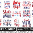 HUGE bundle Fourth of July Bundle Graphic Desing T-shirt in SVG EPS PNG and DXF files