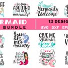 HUGE bundle Mermaid  Bundle Graphic Desing T-shirt in SVG EPS PNG and DXF files