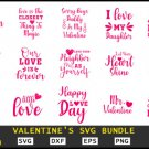 HUGE bundle Valentine's Bundle Graphic Desing T-shirt in SVG EPS PNG and DXF files