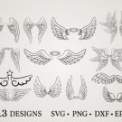 HUGE bundle Angel-Bundle-Angel-Wings Bundle Graphic Desing T-shirt in SVG EPS PNG and DXF files