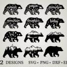 HUGE bundle Bear-Bundle-Bear-Mama Graphic Desing T-shirt in SVG EPS PNG and DXF files