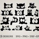 HUGE bundle Cat-Bundle Graphic Desing T-shirt in SVG EPS PNG and DXF files