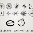HUGE Bundle Compass-Bundle-Compass Graphic Desing T-shirt in SVG EPS PNG and DXF files