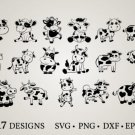 HUGE Bundle Cow-Bundle Graphic Desing T-shirt in SVG EPS PNG and DXF files