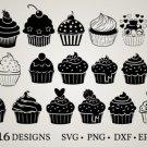 HUGE Bundle Cupcake-Bundle-Cupcake Graphic Desing T-shirt in SVG EPS PNG and DXF files