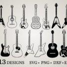 HUGE Bundle Guitar-Bundle-Guitar Graphic Desing T-shirt in SVG EPS PNG and DXF files