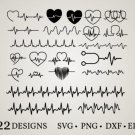HUGE Bundle Heartbeat-Bundle-Heartbeat-Clipart Graphic Desing T-shirt in SVG EPS PNG and DXF files