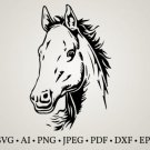 HUGE Bundle Horse-Horse-Clipart-Horse-Cut Graphic Desing T-shirt in SVG EPS PNG and DXF files