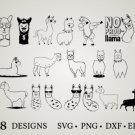 HUGE Bundle Llama-Bundle Graphic Desing T-shirt in SVG EPS PNG and DXF files