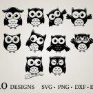HUGE Bundle Owl-Bundle-Owl-Owl-Vector Graphic Desing T-shirt in SVG EPS PNG and DXF files