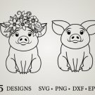 HUGE Bundle Pig-Cute-Pig-Pig-Vector Graphic Desing T-shirt in SVG EPS PNG and DXF files