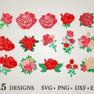HUGE Bundle Rose-Bundle-Rose-Rose-Clipart Graphic Desing T-shirt in SVG EPS PNG and DXF files