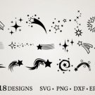 HUGE Bundle Stars-Bundle-Stars-Stars-Clipart Graphic Desing T-shirt in SVG EPS PNG and DXF files