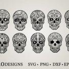 HUGE Bundle Sugar-Skull-Bundle Graphic Desing T-shirt in SVG EPS PNG and DXF files