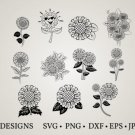 HUGE Bundle Sunflower-Sunflower-Clipart Graphic Desing T-shirt in SVG EPS PNG and DXF files