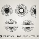 HUGE Bundle Sunflower-Sunflower-Monogram Graphic Desing T-shirt in SVG EPS PNG and DXF files