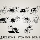 HUGE Bundle Turtle-Bundle-Sea-Turtle Graphic Desing T-shirt in SVG EPS PNG and DXF files