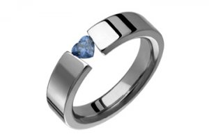 Heart Shape Cz Tanzanite Tension Titanium Ring!Directly From The Manufacturer- Design Your Own Ring!