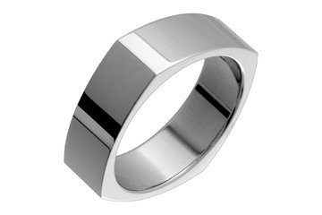 Flat Squared Titanium ring!Directly from the manufacturer- Design your own ring!