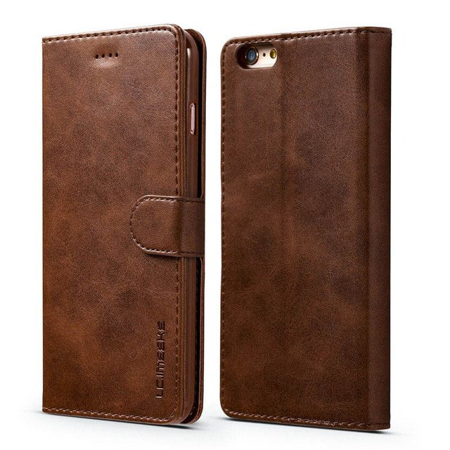 Exquisite Classic Leather iPhone Folio Wallet Phone Cover Case For 12 11 PRO MAX XR XS SE Plus 8 7 6