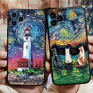 Soft Silicone iPhone Oil Painted Pattern Art  Realism Case For 12 11 PRO MAX XR XS SE Plus 8 7 6 5