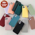 Soft Silicone iPhone Matte Candy Colour Cover Case For 12 11 PRO MAX XR XS SE Plus 8 7 6 5