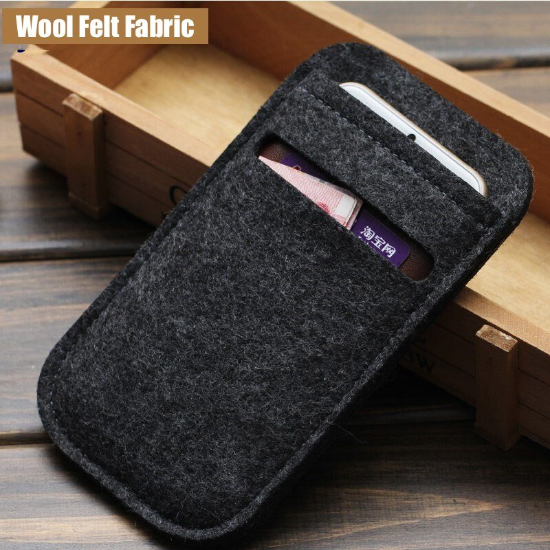 Wool Felt Fabric iPhone Sleeve Pouch Card Slot Storage Case For 12 11 PRO MAX XR XS SE Plus 8 7 6 5