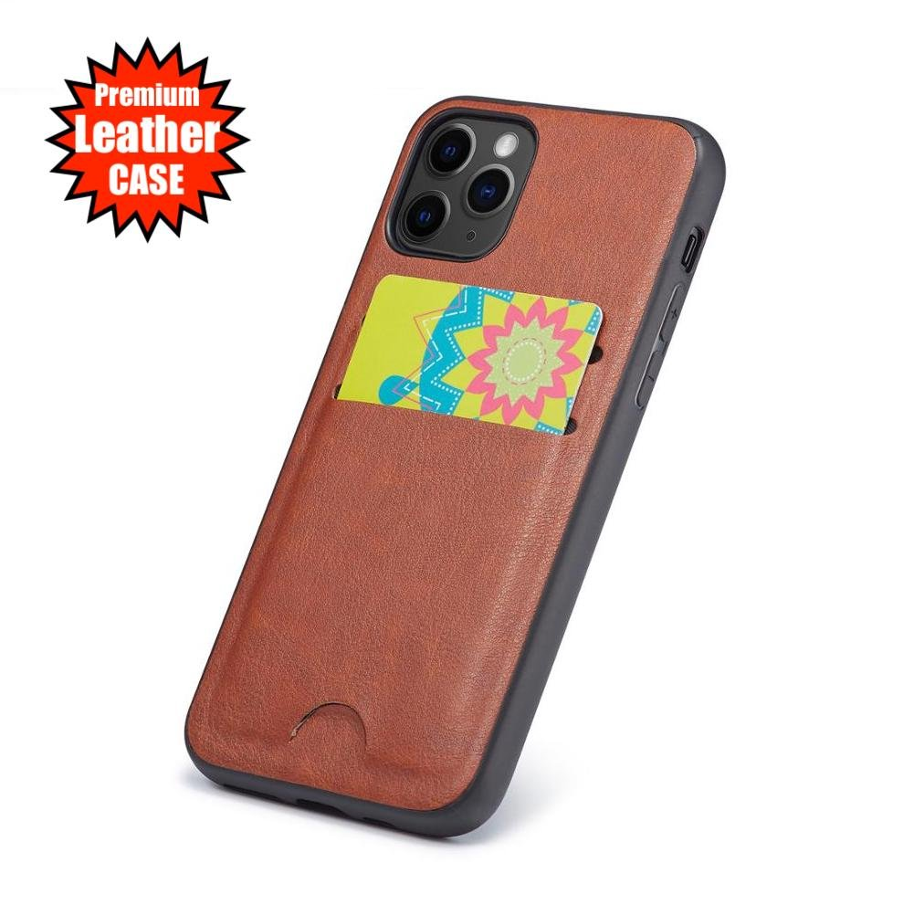 Silicone iPhone Wallet Card Slot Leather Pattern Cover Case For 12 11 PRO MAX XR XS SE PLUS 8 7 6