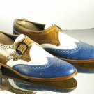 Handmade Oxford Wing Tip Brogue Multi Color Leather Shoes For Men