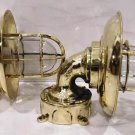 Authentic Brass Swan Neck 90 Degree Passage Wall Light Extra Shade Junction Box
