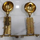 Industrial Antique Stretchable Scissor Wall Light Fixture Nautical Brass New 2 Pieces