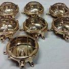 New Nautical Marine Small Round Cast Brass Ceiling light Antique Polish 7 Pieces