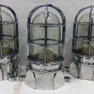 Vintage Style New Solid Cast Aluminum Passageway Bulkhead Ship Mount Blast Proof Light 3 Pieces