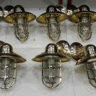 Nautical New Marine Brass Ship Wall Passageway Bulkhead Light 10 Pieces