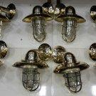 Nautical New Marine Brass Ship Wall Passageway Bulkhead Light 8 Pieces