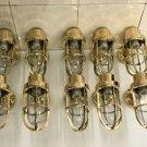 Antique Nautical Ship Marine New Solid Brass Wall Swan Passageway Bulkhead Light 10 Pieces