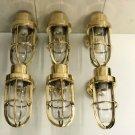 Antique Nautical Ship Marine New Solid Brass Wall Swan Passageway Bulkhead Light 6 Pieces