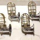 New Japanese Naval Patt Aluminum Swan Neck Wall Light – Brass Cage 4 Pieces