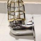 New Japanese Naval Patt Aluminum Swan Neck Wall Light – Brass Cage 1 Piece